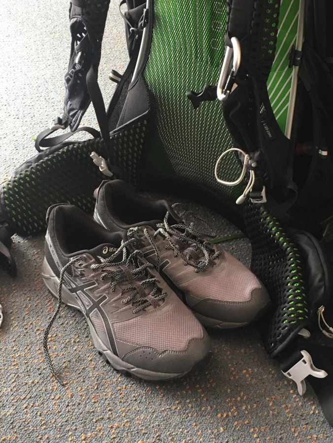 New shoes - swapped out hiking boots for cross trainers