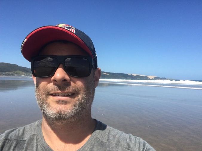 Salt water foot bath at the end of 90 Mile Beach- Ahipara